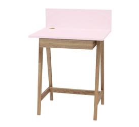 LUKA Ashwood Writing Desk 65x50cm with Drawer / Dusky Pink