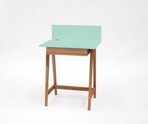 LUKA Writing Desk 65x50cm with Drawer Oak / Mint