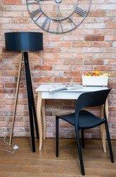 WANDA Floor Lamp 45x140cm - Black / Black Lampshade