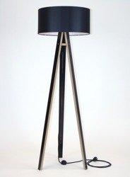 WANDA Floor Lamp 45x140cm - Black / Black Lampshade / Black