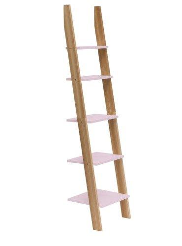 ASHME Ladder Shelf 45x35x180cm - Dusky Pink
