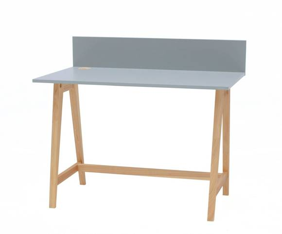 LUKA Ashwood Writing Desk 110x50cm / Light Grey