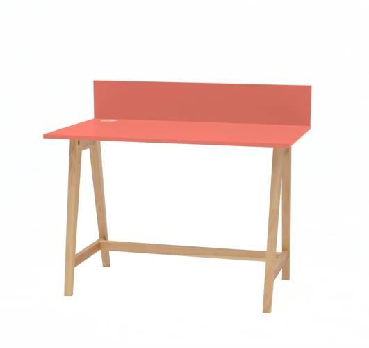 LUKA Ashwood Writing Desk 110x50cm / Living Coral