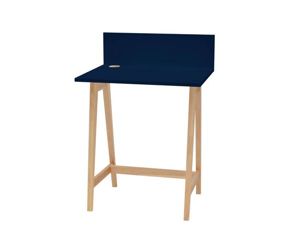 LUKA Ashwood Writing Desk 65x50cm / Navy Blue