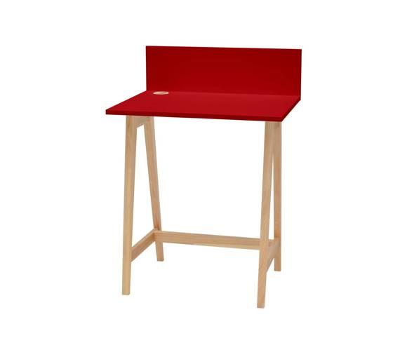 LUKA Ashwood Writing Desk 65x50cm / Red