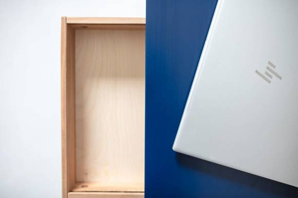 LUKA Ashwood Writing Desk 65x50cm with Drawer / Graphite