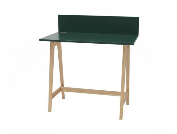 LUKA Ashwood Writing Desk 85x50cm / Bottle Green