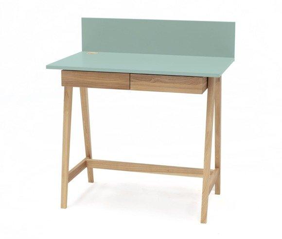 LUKA Ashwood Writing Desk 85x50cm with Drawer / Mint