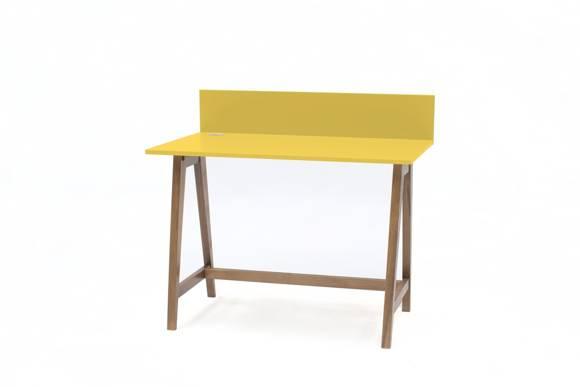 LUKA Writing Desk 110x50cm Oak / Yellow