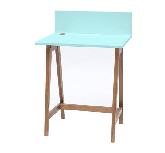 LUKA Writing Desk 65x50cm Oak / Light Turquoise