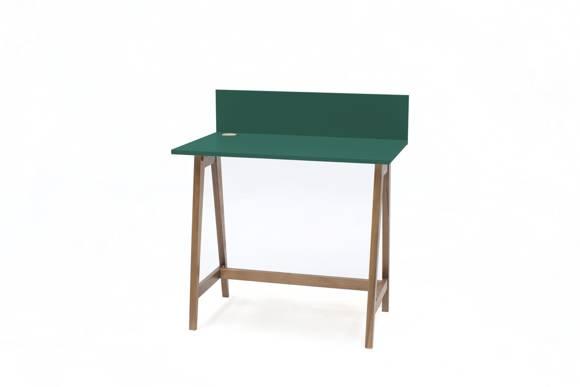 LUKA Writing Desk 85x50cm Oak / Bottle Green
