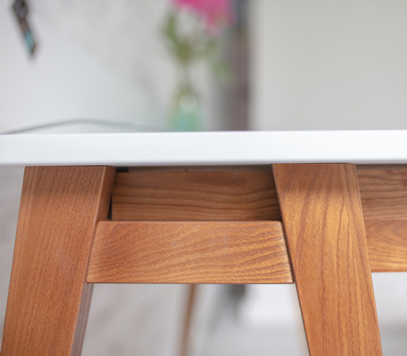 LUKA Writing Desk 85x50cm with Drawer Oak / Dark Grey