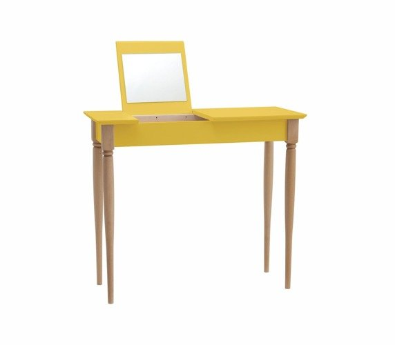 MAMO Dressing Table with Mirror - Yellow