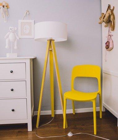 WANDA Floor Lamp 45x140cm - Yellow /  White Lampshade