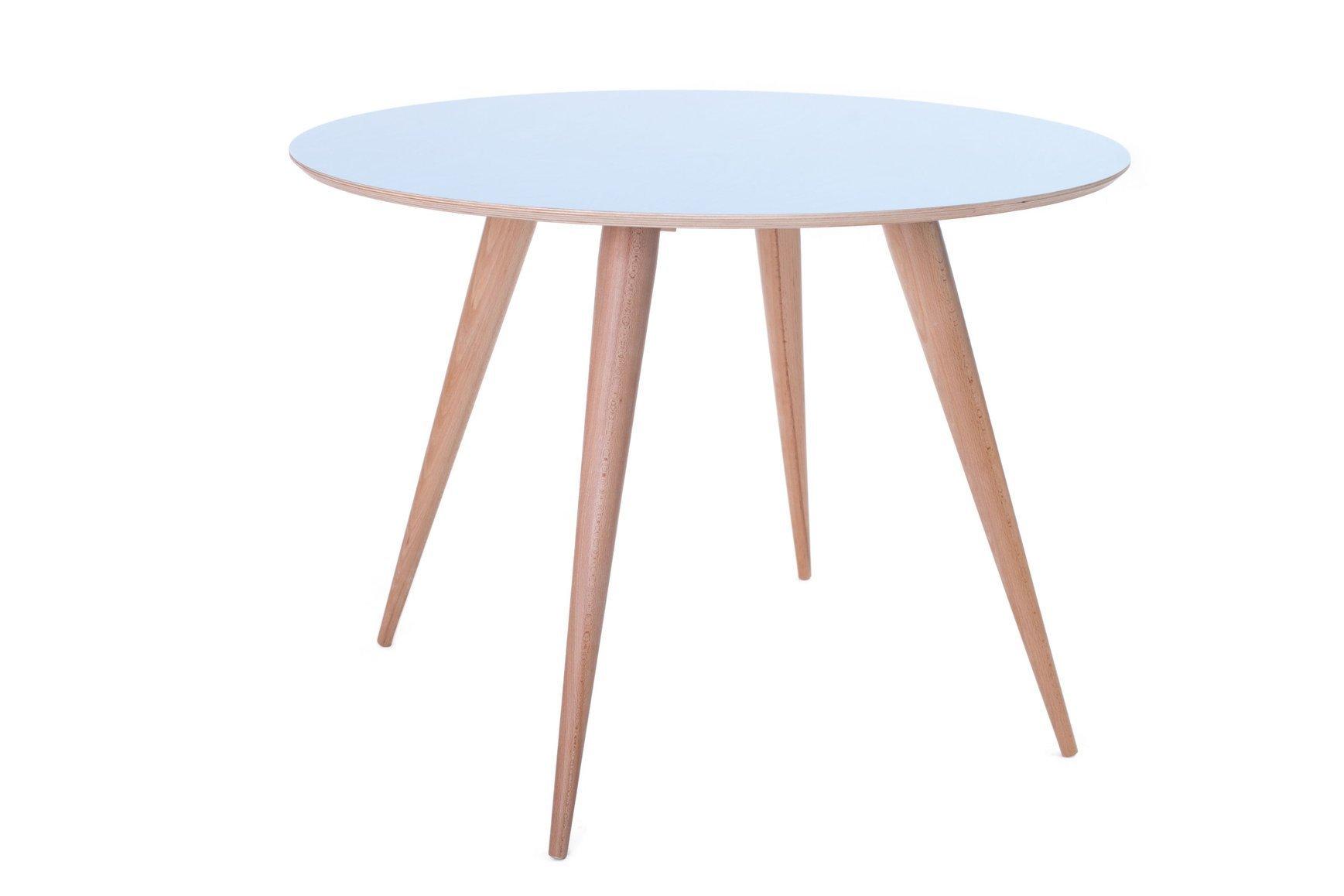 PLANET runder Tisch 105x75cm Blau  
