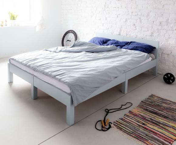 DABI Bett B 140 cm x L 200 cm / Flaschengrün