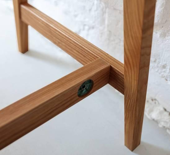 LUKA Schreibtisch 110x50cm mit Schublade Eiche / Hellgrau