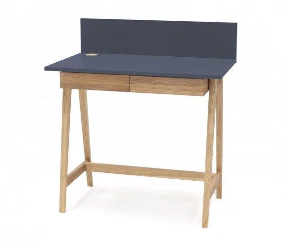 Luka Eschenholz Schreibtisch 110x50cm mit Schublade / Graphit