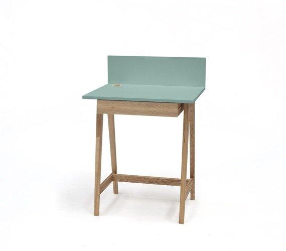 Luka Eschenholz Schreibtisch 65x50cm mit Schublade / Minze
