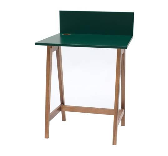 Luka Schreibtisch 65x50cm Eiche / Flaschengrün