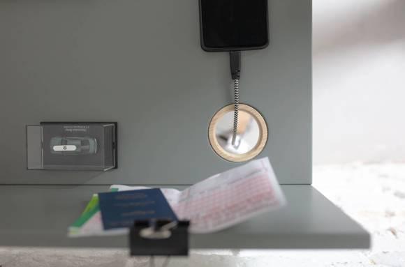 Luka Schreibtisch 65x50cm Eiche / Weiß